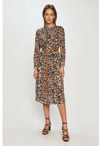 Wielokolorowa sukienka Calvin Klein na co dzień, z długim rękawem