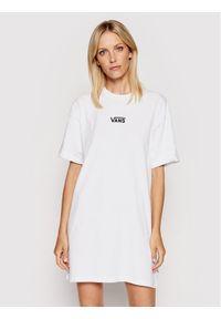 Vans Sukienka codzienna Wm Center Vee VN0A4RU2 Biały Regular Fit. Okazja: na co dzień. Kolor: biały. Typ sukienki: proste. Styl: casual