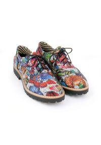 Półbuty Zapato na sznurówki, wąskie, eleganckie, z okrągłym noskiem