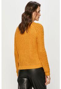 Żółty sweter Answear Lab długi, z długim rękawem, na co dzień #5
