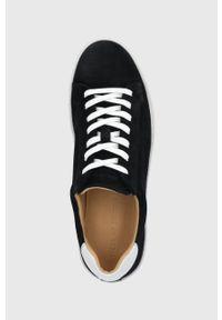 TIGER OF SWEDEN - Tiger Of Sweden - Buty zamszowe. Nosek buta: okrągły. Zapięcie: sznurówki. Kolor: czarny. Materiał: zamsz