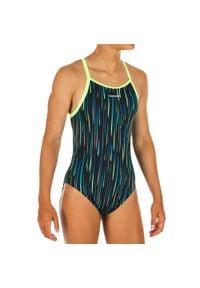 NABAIJI - Strój jednoczęściowy pływacki Jade All Neon dla dzieci. Kolor: czarny. Materiał: poliamid, materiał, poliester