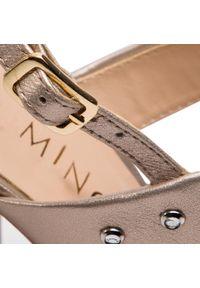 Złote sandały Eva Minge casualowe, na co dzień