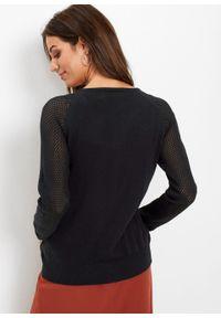 Czarny sweter bonprix klasyczny