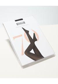 Wolford - WOLFORD - Rajstopy Mat Opaque 80. Kolor: czarny. Materiał: materiał. Wzór: gładki
