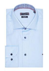 Niebieska koszula biznesowa TOMMY HILFIGER #6