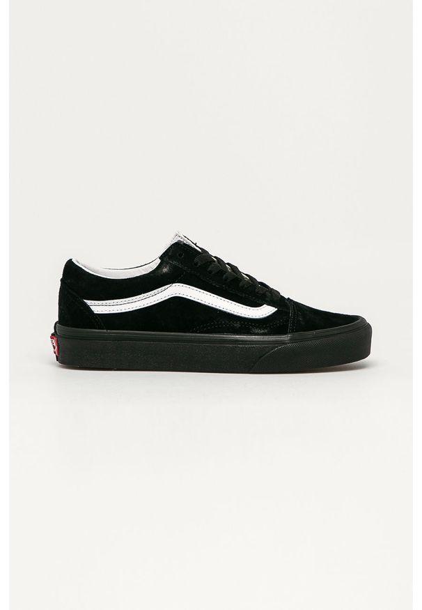 Vans - Tenisówki skórzane. Nosek buta: okrągły. Zapięcie: sznurówki. Kolor: czarny. Materiał: skóra. Szerokość cholewki: normalna. Obcas: na obcasie. Wysokość obcasa: niski