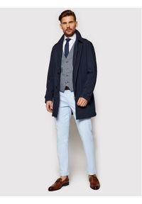 Niebieski płaszcz przejściowy Bugatti