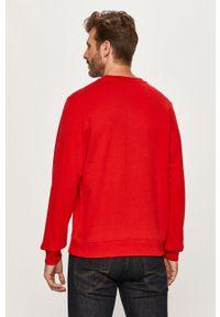 Czerwona bluza nierozpinana Lacoste na co dzień, z aplikacjami, bez kaptura