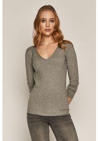 medicine - Medicine - Sweter Basic. Kolor: szary. Materiał: dzianina. Długość rękawa: długi rękaw. Długość: długie