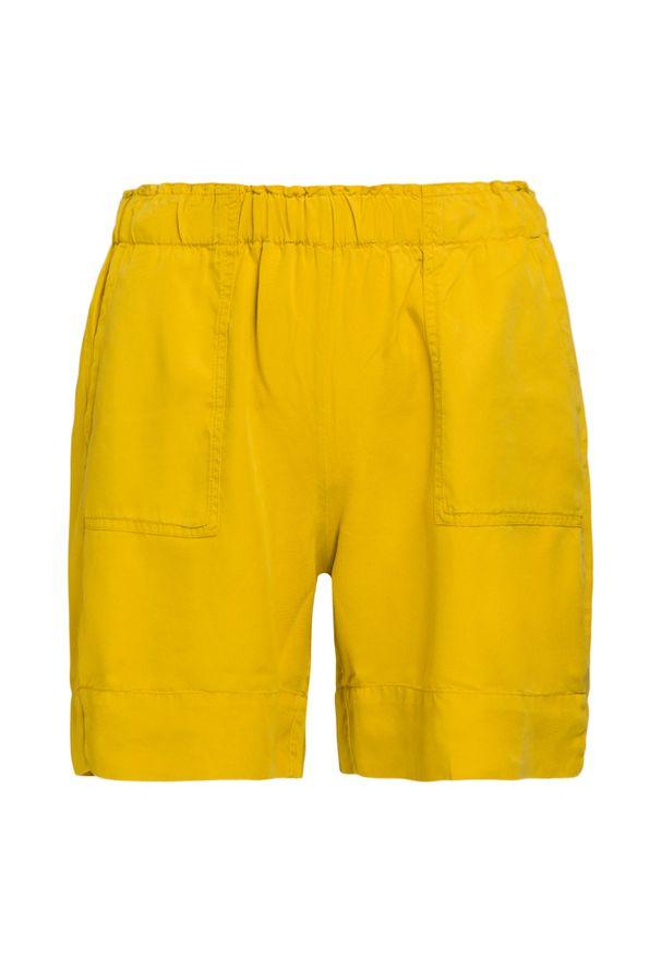 Żółte szorty Deha z aplikacjami
