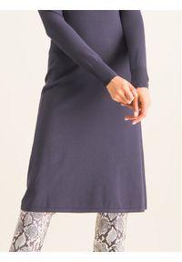 Patrizia Pepe Sukienka dzianinowa 8A0627/A6J3-S573 Granatowy Slim Fit. Kolor: niebieski. Materiał: dzianina