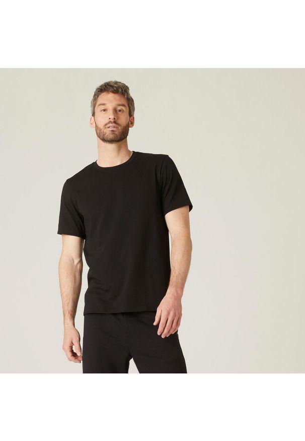 NYAMBA - Koszulka krótki rękaw fitness. Kolor: czarny. Materiał: poliester, elastan, bawełna, materiał. Długość rękawa: krótki rękaw. Długość: krótkie. Sport: fitness