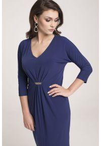 Niebieska sukienka Vito Vergelis casualowa, na randkę