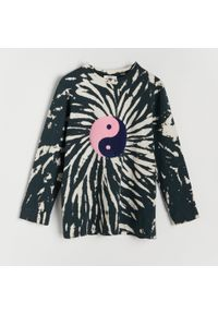Reserved - Lekka bluza tie-dye z bawełny organicznej - Wielobarwny. Materiał: bawełna