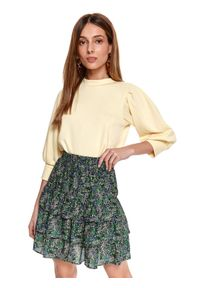 Żółta bluza TOP SECRET gładkie
