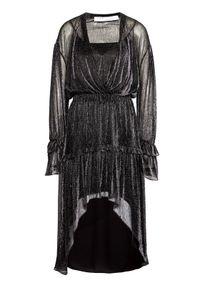 Srebrna sukienka koktajlowa IRO wizytowa
