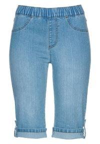 """Bermudy dżinsowe z gumką w talii bonprix niebieski """"bleached"""". Kolor: niebieski"""