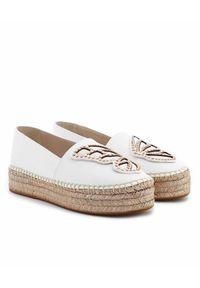 SOPHIA WEBSTER - Białe espadryle z motylem. Nosek buta: okrągły. Kolor: biały