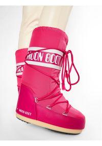 Różowe śniegowce Moon Boot