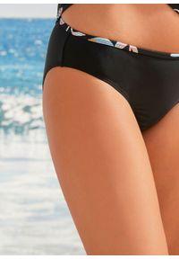 Figi bikini bonprix czarny. Kolor: czarny. Wzór: nadruk