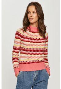 Różowy sweter Tommy Jeans z długim rękawem, długi