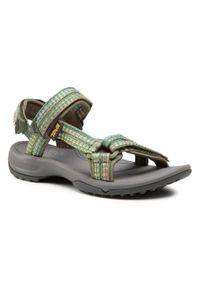 Zielone sandały Teva casualowe, na co dzień