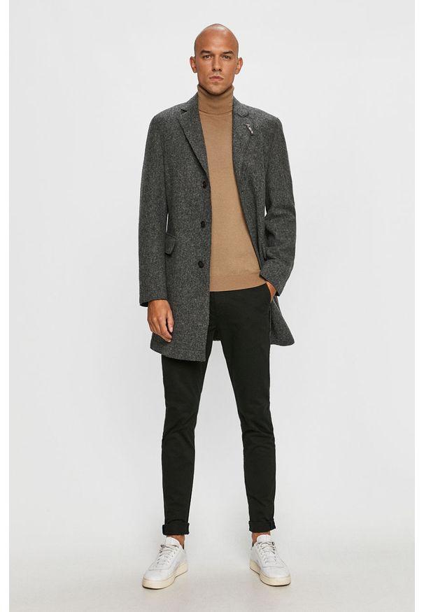 Szary płaszcz Baldessarini bez kaptura, klasyczny