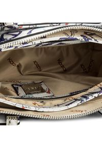 Biała torebka klasyczna Kazar z napisami, na ramię