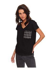 Czarny t-shirt TOP SECRET