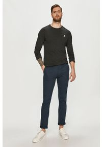 Czarna koszulka z długim rękawem Polo Ralph Lauren polo, gładkie