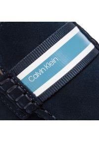 Niebieskie półbuty Calvin Klein z aplikacjami, z cholewką