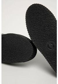 Czarne półbuty Altercore na średnim obcasie, na sznurówki, na obcasie, z okrągłym noskiem