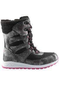 Czarne buty sportowe 4f na zimę, z cholewką