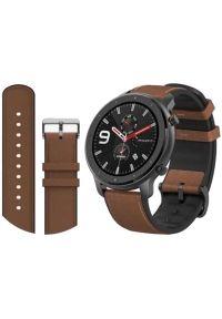 Czarny zegarek Xiaomi klasyczny, smartwatch