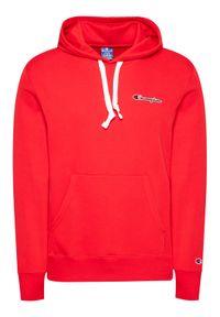 Champion Bluza Small Script Logo Terry Hoddie 215930 Czerwony Comfort Fit. Kolor: czerwony