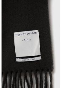 TIGER OF SWEDEN - Tiger Of Sweden - Szalik wełniany. Kolor: zielony. Materiał: wełna