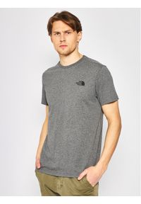 The North Face T-Shirt Simple Dome Tee NF0A2TX5JBV1 Szary Regular Fit. Kolor: szary