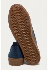 medicine - Medicine - Trampki Casual Elegance. Okazja: na co dzień. Nosek buta: okrągły. Zapięcie: sznurówki. Kolor: niebieski. Materiał: guma. Styl: casual