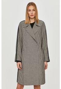 Biały płaszcz Armani Exchange bez kaptura, klasyczny