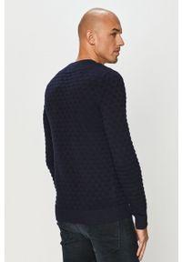 Jack & Jones - Sweter. Okazja: na co dzień. Kolor: niebieski. Materiał: dzianina. Długość rękawa: długi rękaw. Długość: długie. Styl: casual