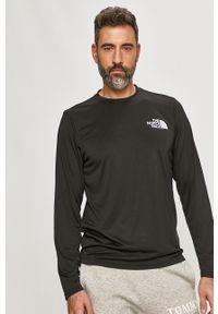 Czarna koszulka z długim rękawem The North Face na co dzień, casualowa