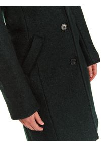 TOP SECRET - Klasyczny płaszcz z kieszeniami. Okazja: na co dzień, do pracy. Kolor: zielony. Długość: długie. Sezon: zima. Styl: klasyczny #2