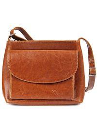 Brązowa torebka DAN-A casualowa, przez ramię