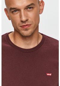 Brązowa koszulka z długim rękawem Levi's® w kolorowe wzory, biznesowa, na co dzień
