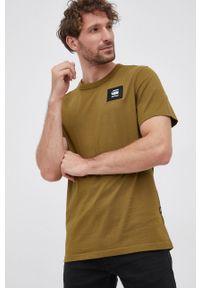 G-Star RAW - G-Star Raw - T-shirt bawełniany. Kolor: zielony. Materiał: bawełna. Wzór: aplikacja