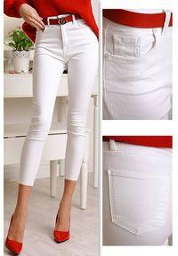 Białe jeansy IVET eleganckie, na co dzień