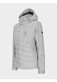 Szara kurtka narciarska outhorn melanż, na zimę