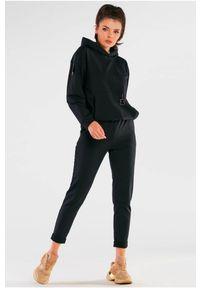 Infinite You - Bawełniane Spodnie z Podwiniętą Nogawką - Czarne. Kolor: czarny. Materiał: bawełna