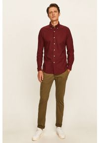 Brązowa koszula Polo Ralph Lauren button down, długa, casualowa